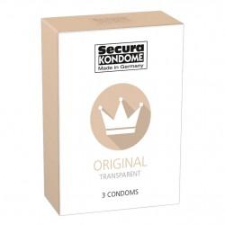 Secura Kondome Original Transparent x3 Condoms