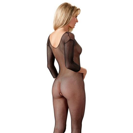 Cottelli Collection Black Net Catsuit