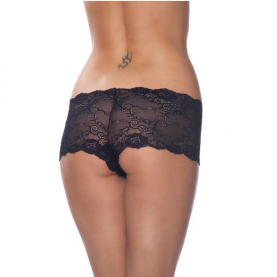 Black Lace Hotpants