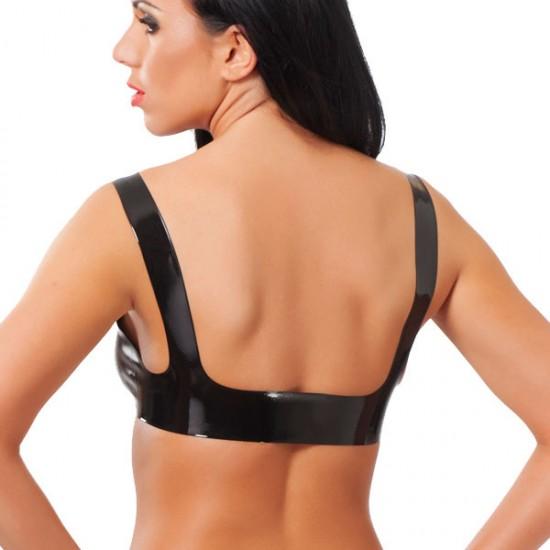 Rubber Secrets Open Nipple Bra